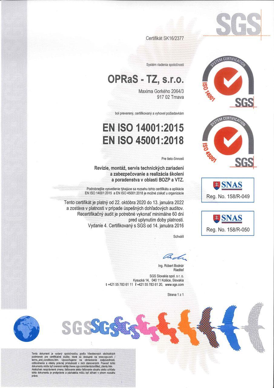 EN-ISO-14001 2015 EN-ISO-45001 2018